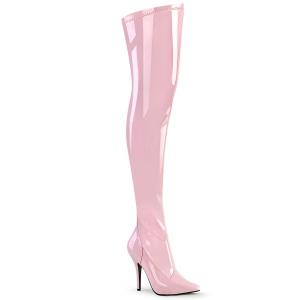 Rosa Verniz 13 cm SEDUCE-3000 bota acima do joelho