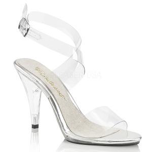 Transparente 10 cm CARESS-412 Sandálias para noite de festa