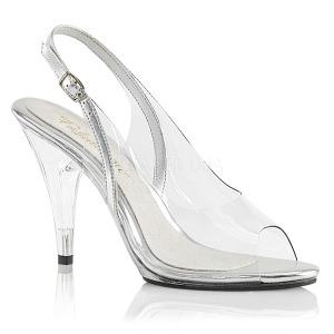 Transparente 10 cm CARESS-450 Sandálias para noite de festa