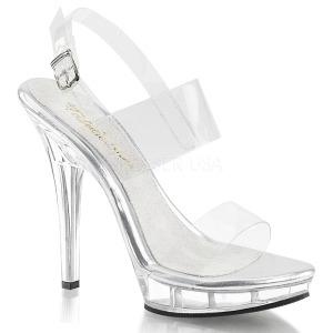 Transparente 13 cm LIP-114 calçados femininos com salto alto