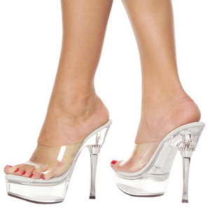 Transparente 14 cm Pleaser ALLURE-601 Plataforma Tamancos Altos