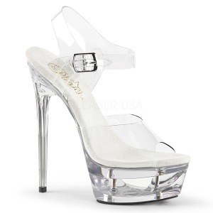 Transparente 16,5 cm ECLIPSE-608 Stiletto Salto Agulha