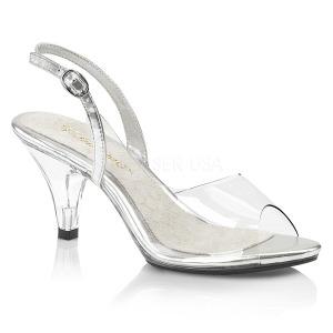 Transparente 8 cm BELLE-350 sapatos de travesti