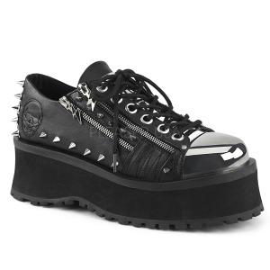 Vegan 7 cm GRAVEDIGGER-04 Goticas Sapatos Homem Plataforma