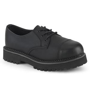 Vegan RIOT-03 zapatos punk demonia - zapatos dedo do pé de aço