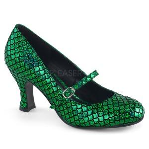 Verde 7,5 cm MERMAID-70 sapatos scarpin com saltos baixos