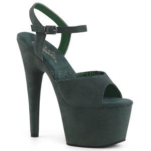 Verde imitação de couro 18 cm ADORE-709FS sandálias de salto alto