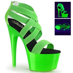 Verde neon 18 cm Pleaser ADORE-769UV sapatos de saltos pole dance