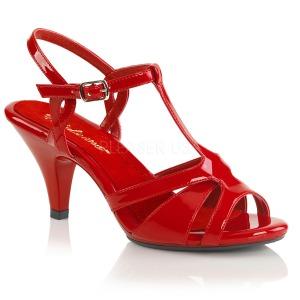 Vermelho 8 cm BELLE-322 sapatos de travesti