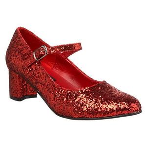 Vermelho Glitter 5 cm SCHOOLGIRL-50G Scarpin Mary Jane