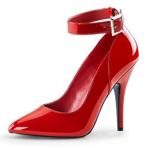 Vermelho Verniz 13 cm SEDUCE-431 Scarpin Saltos Altos para Homens