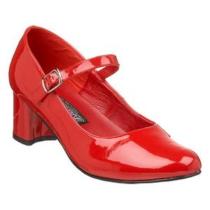 Vermelho Verniz 5 cm SCHOOLGIRL-50 classico calçados scarpini