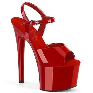 Vermelho plataforma 18 cm PASSION-709 sandália salto alto pleaser