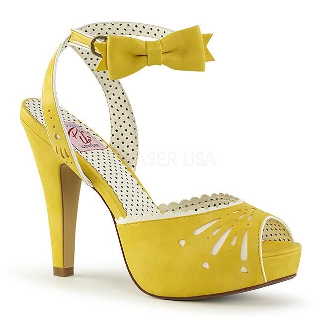 Amarelo 11,5 cm Pinup BETTIE 01 sandálias de salto alto mulher