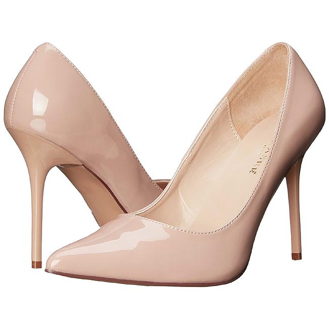 Bege Verniz 10 cm CLASSIQUE 20 Sapatos Scarpin Salto Agulha