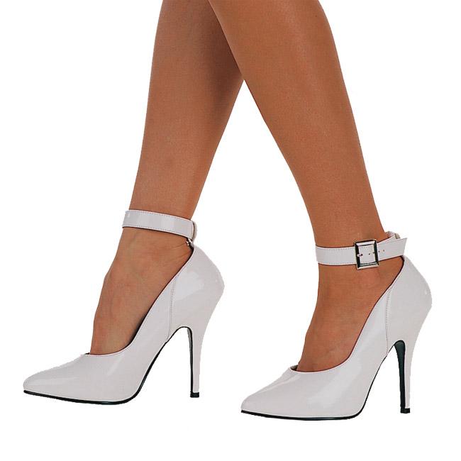 e9545a4979 Branco Verniz 13 cm SEDUCE-431 Sapatos Scarpin Femininos