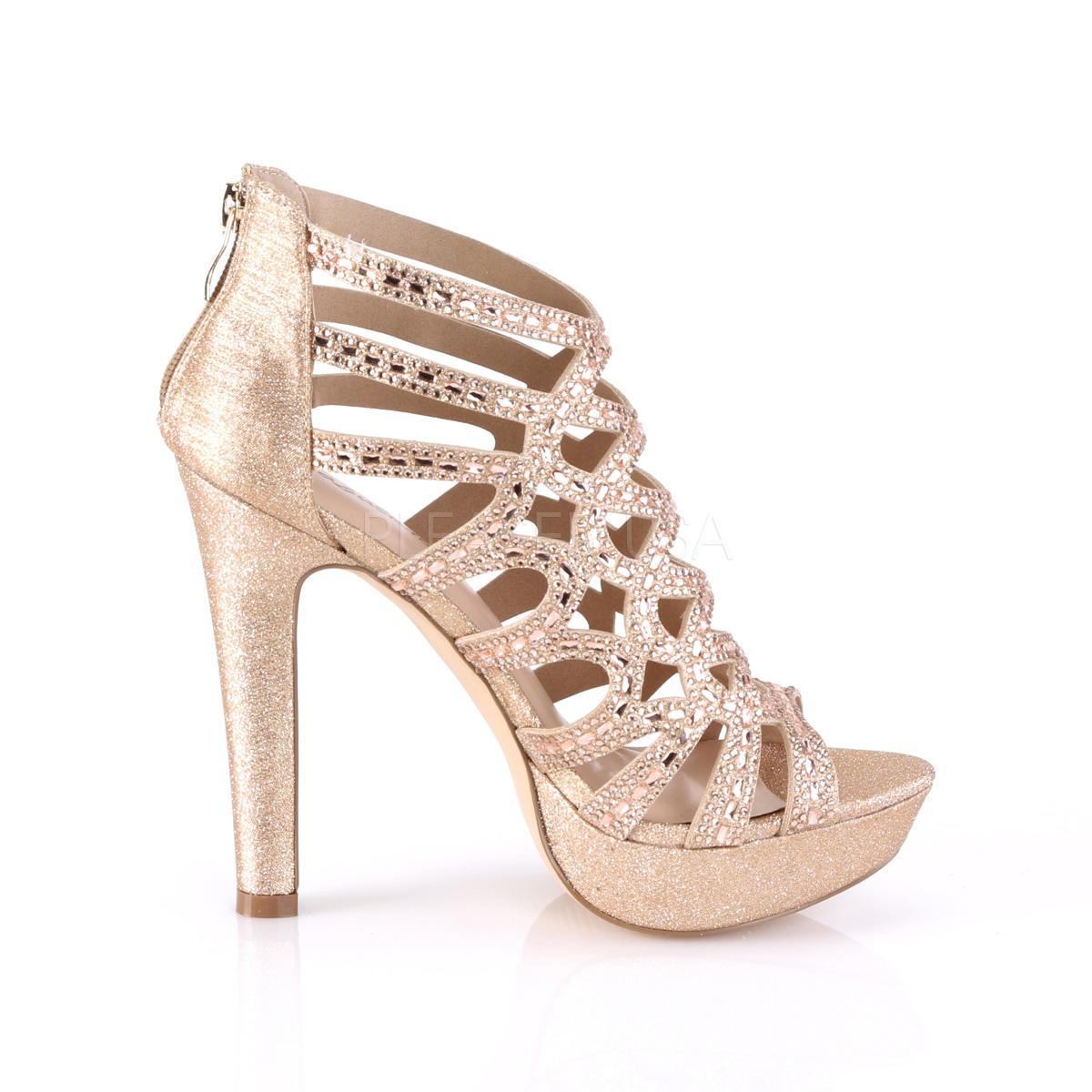 Prata 11,5 cm Pleaser SELENE 24 Sandálias de salto alto