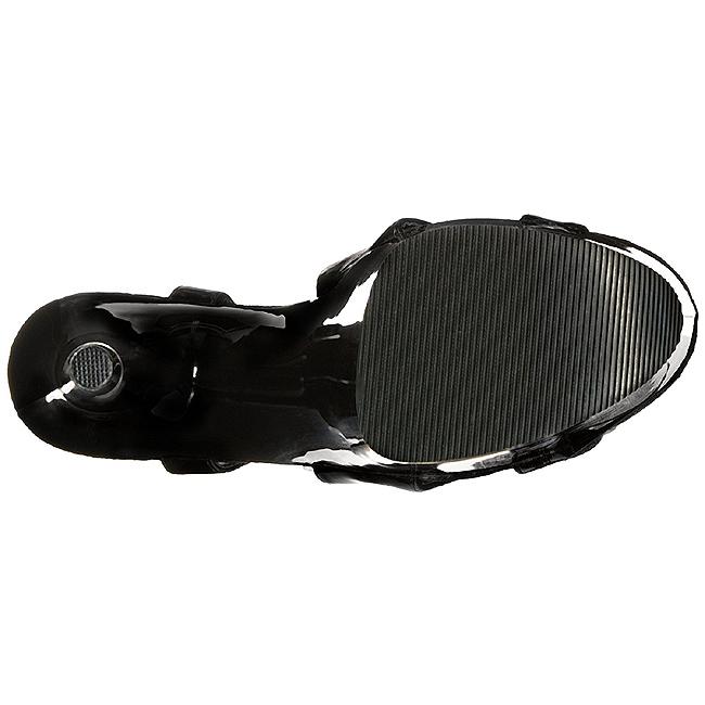 Envernizado 20 cm FLAMINGO 831 Plataforma Sapatos Salto Alto