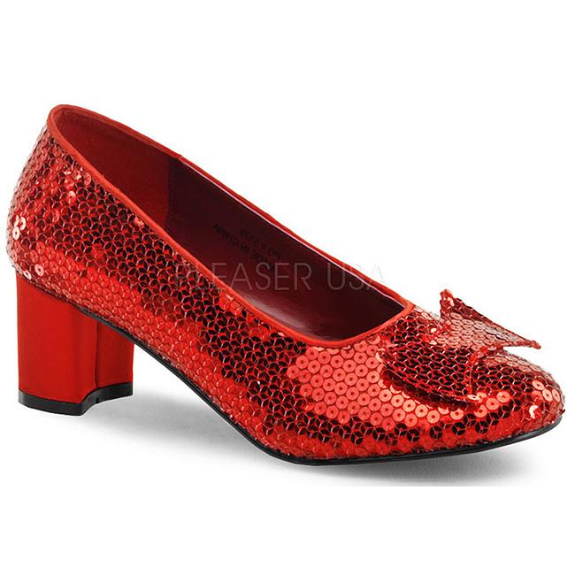 1c9ed2508 Lantejoulas 5 cm DOROTHY-01 Sapatos Scarpin Femininos