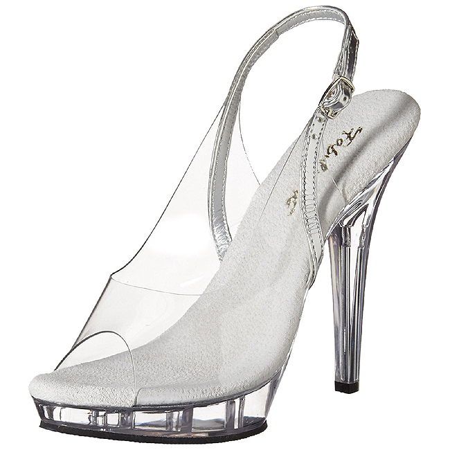 Transparente 13 cm LIP 150 Plataforma Sapatos Salto Alto