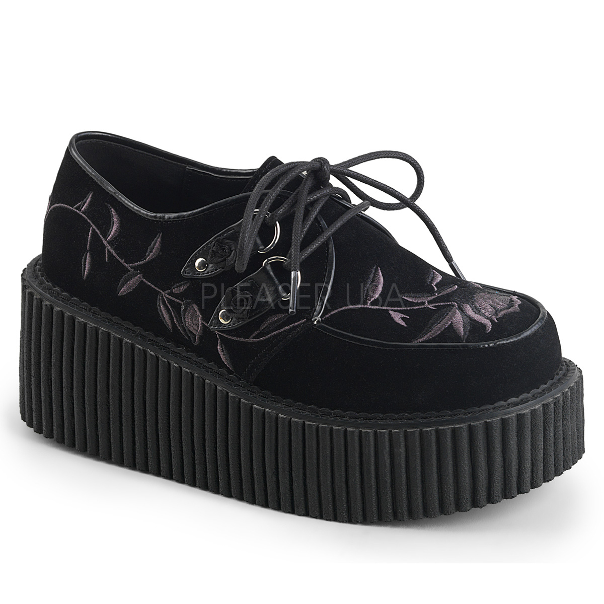 Veludo 7,5 cm CREEPER 219 plataforma sapatos creepers mulher