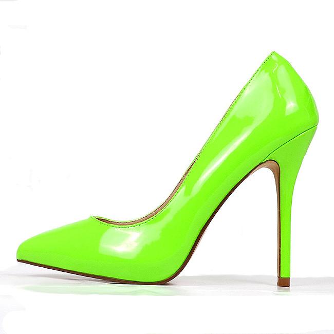 b6d34bc6d1 Verde Neon 13 cm AMUSE-20 Sapatos Scarpin Salto Agulha