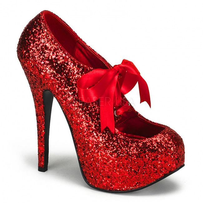 Roxo Glitter 14,5 cm TEEZE 10G Platform Scarpin Sapatos