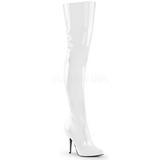 Branco Verniz 13 cm SEDUCE-3010 bota acima do joelho