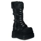 Preto 11,5 cm BEAR-202 botas de mulher plataforma góticos