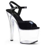 Acrílico 18 cm Pleaser RADIANT-709 Plataforma Sapatos Salto Alto