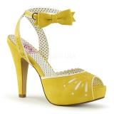 Amarelo 11,5 cm Pinup retro vintage BETTIE-01 sandálias de salto alto mulher