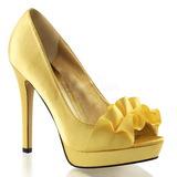 Amarelo Cetim 12 cm LUMINA-42 sapato scarpin para noite de gala