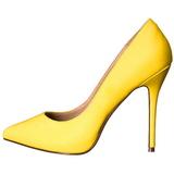 Amarelo Neon 13 cm AMUSE-20 Sapatos Scarpin Salto Agulha