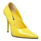 Amarelo Verniz 12 cm MILAN-01 Sapatos Scarpin Stiletto Salto Agulha