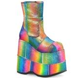 Arco íris Glitter 18 cm STACK-201 Botinha Homem Plataforma