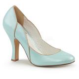 Azul 10 cm SMITTEN-04 Pinup sapatos scarpin com saltos baixos