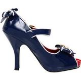 Azul 11,5 cm ANCHOR-22 calçados femininos com salto alto