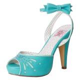 Azul 11,5 cm Pinup BETTIE-01 sandálias de salto alto mulher