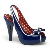 Azul 11,5 cm retro vintage BETTIE-05 calçados femininos com salto alto