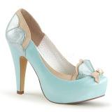 Azul 11,5 cm retro vintage BETTIE-20 Pinup sapatos scarpin de plataforma oculta