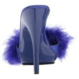 Azul 13 cm POISE-501F marabu penas Tamancos Altos
