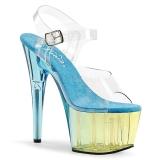 Azul 18 cm ADORE-708MCT Acrílico plataforma salto alto mulher