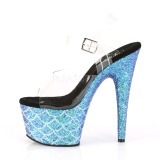 Azul 18 cm ADORE-708MSLG brilho plataforma sandálias mulher