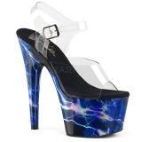 Azul 18 cm ADORE-708STORM Holograma plataforma salto alto mulher