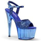 Azul 18 cm ADORE-710GT brilho plataforma salto alto mulher