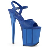 Azul 18 cm FLAMINGO-809T Acrílico plataforma salto alto mulher