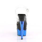 Azul 18 cm SCALLOP-708-2HGM Holograma plataforma salto alto mulher