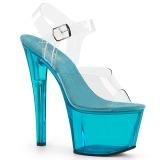 Azul 18 cm SKY-308T-2 Acrílico plataforma salto alto mulher