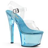 Azul 18 cm SKY-308T Acrílico plataforma salto alto mulher