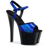 Azul 18 cm SKY-309HG Holograma plataforma salto alto mulher